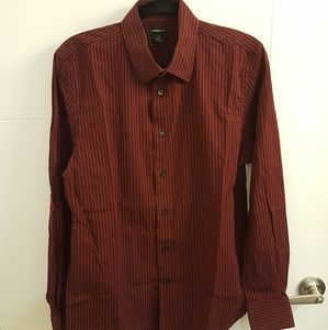 Express Red Black Men's Shirt M 15-15 1/2 Modern